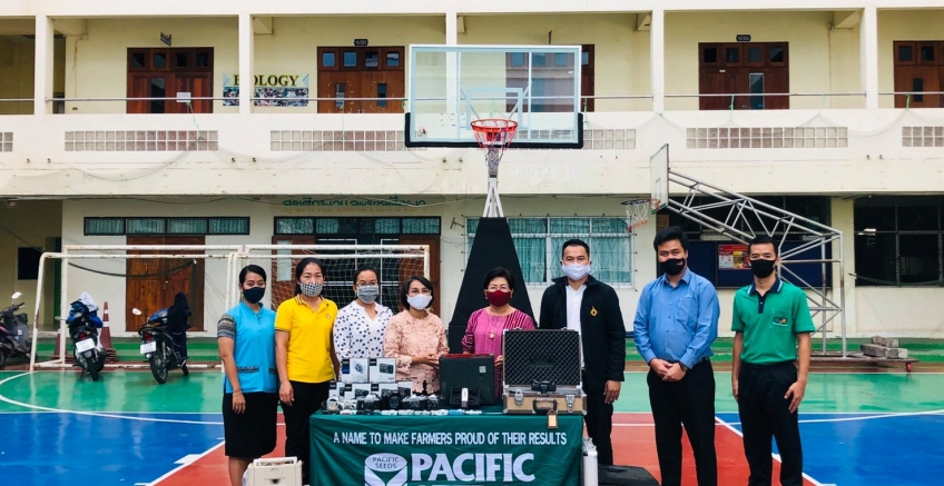 Pacific Seed delivers audio-visual equipment To use the Demonstration School of Thepsatri Rajabhat University