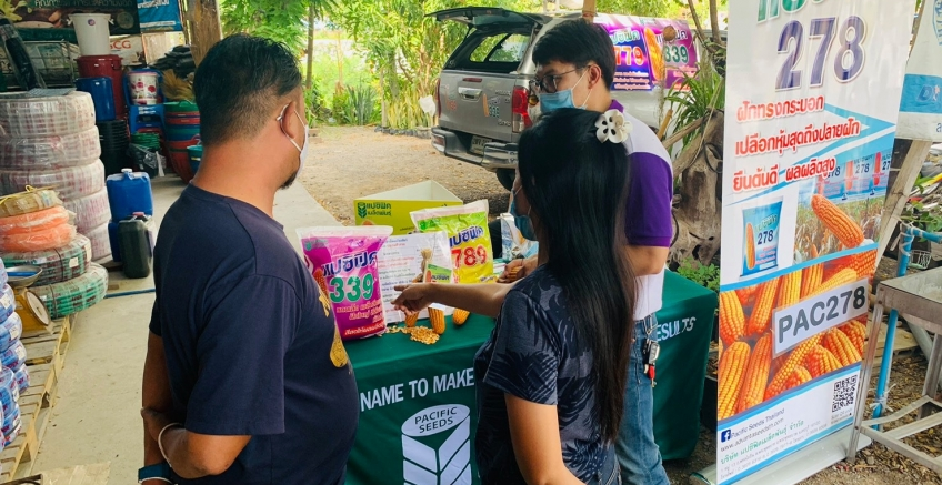 Pacific joined the store sales event in Long District, Phrae Province